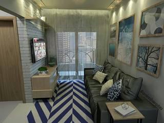Projeto Sala Apartamento CS2:   por Caroline Silva Arquitetura e Interiores
