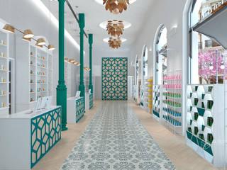 Farmacia para New Planer. Proyecto de diseño interior por Alberto Navarro Arquitectura Interior Pasillos, vestíbulos y escaleras de estilo clásico de Alberto Navarro Arquitectura Interior Clásico