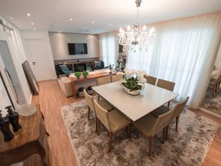 Edifício Inspiration I Ecoville: Salas de jantar  por Factus Arquitetura Planejamento Interiores,Moderno