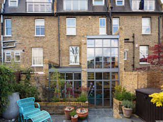 Double height crittall style extension Casas de estilo ecléctico de HollandGreen Ecléctico
