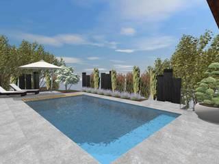 Schwimmbad Moderner Garten von Lifestyle & More by Lyke Gschwend - Atelier für Garten & Landschaftsdesign Modern