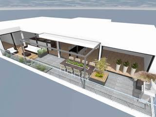 Dachterrasse Moderner Balkon, Veranda & Terrasse von Lifestyle & More by Lyke Gschwend - Atelier für Garten & Landschaftsdesign Modern