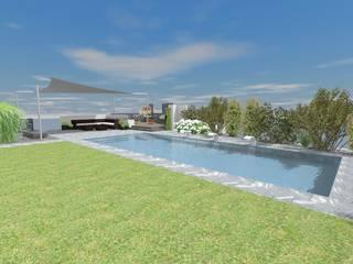 Schwimmbad von Lifestyle & More by Lyke Gschwend - Atelier für Garten & Landschaftsdesign Modern