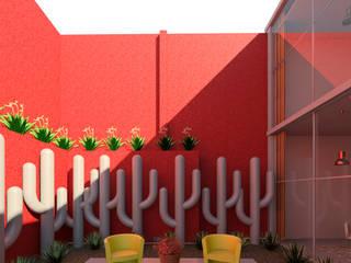 Salón de eventos Jardines industriales de Madera de Arquitecto Industrial