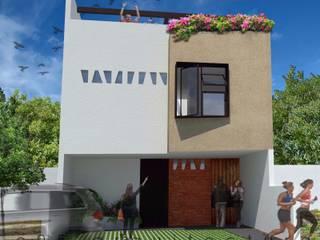 Casa 7 x 18 Sendas Residencial : Casas unifamiliares de estilo  por c05 Arquitectura