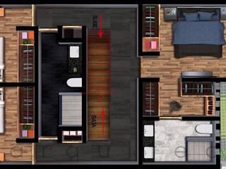 Casa 7 x 18 Sendas Residencial : Comedores de estilo  por c05 Arquitectura