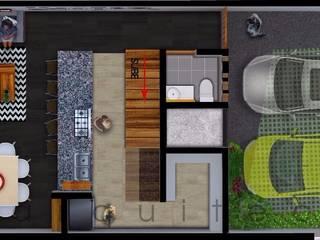 Casa 7 x 18 Sendas Residencial : Recámaras de estilo  por c05 Arquitectura