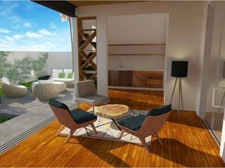 Puerta de Hierro: Salas de estilo  por c05 Arquitectura