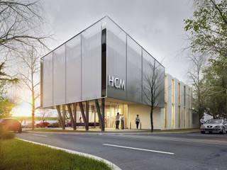 AMPLIACIÓN Y REMODELACIÓN CONCEJO DELIBERANTE MUNICIPALIDAD  DE SANTO TOME: Oficinas y Tiendas de estilo  por DUA Arquitectos