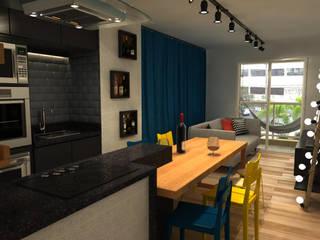 Studio 46m² - Móoca: Cozinhas  por Fragmento Arquitetura