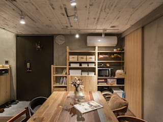 Asian style dining room by Z+SQUARE DESIGN / 正工設計 Asian