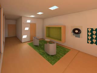 Estudio de grabación Salones modernos de Madera de Arquitecto Moderno
