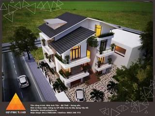 Phối cảnh kiến trúc bên ngoài:  Nhà by KIẾN TRÚC TÂY HỒ