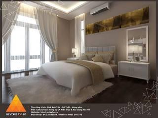 Phòng ngủ phụ:  Phòng ngủ by KIẾN TRÚC TÂY HỒ