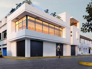 3h arquitectos Moderne Häuser Beton Weiß