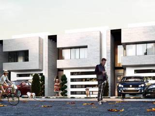 3h arquitectos Minimalistische Häuser Beton Weiß