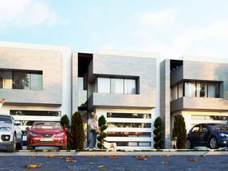 3h arquitectos Moderne Häuser Stein Grau