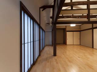古包のリビング/和風リノベーション・和風リフォーム: 森村厚建築設計事務所が手掛けたリビングです。