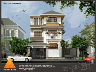 Phối cảnh kiến trúc mặt đứng:  Nhà gia đình by KIẾN TRÚC TÂY HỒ