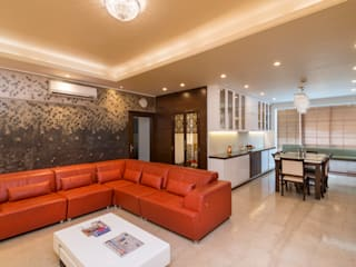 Salarpuria - Apartment Interiors Modern living room by Vivek Shankar Architects Modern