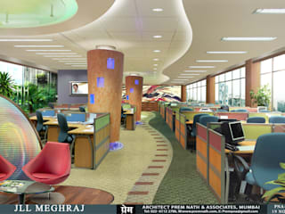 Corporate Interiors for JLL Meghraj, Mumbai:   by Prem Nath And Associates
