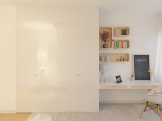 MIA arquitetos Girls Bedroom Chipboard White