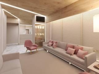 MIA arquitetos Cliniques minimalistes Bois Beige
