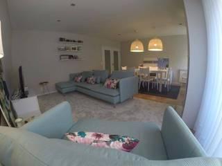 MIA arquitetos Salas de estilo minimalista Azul