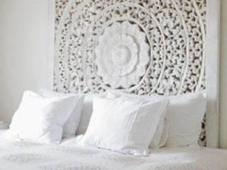 Habitación Blanca Zen:  de estilo  de Ana de Ramón FENG SHUI