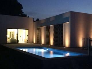 casa byg vivienda unifamiliar en urb Calicanto (Chiva) Casas de estilo mediterráneo de miguel cosín Mediterráneo