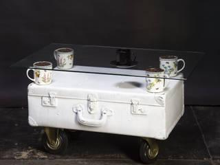 Кофейный столик из винтажного чемодана:  в . Автор – Bronus craft