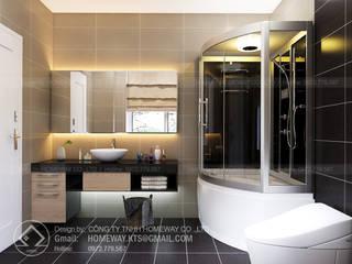 Biệt thự AD0619 Phòng tắm phong cách hiện đại bởi HOMEWAY Hiện đại