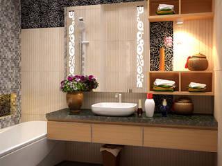 Biệt thự AD0612 Phòng tắm phong cách hiện đại bởi HOMEWAY Hiện đại