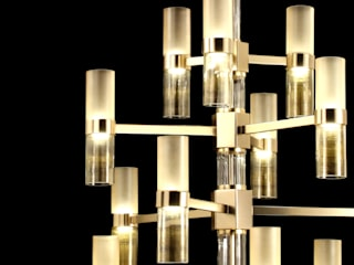 Lampadario vetro design moderno Hexigo:  в . Автор – MULTIFORME® lighting