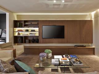 Apartamento Lourdes Salas de estar modernas por Sathler Camargo Design de Interiores Moderno
