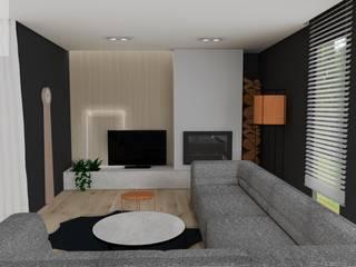 Nowoczesny dom - Klasyczna Carrara Nowoczesny salon od Katarzyna Piotrowiak Pure Form Nowoczesny