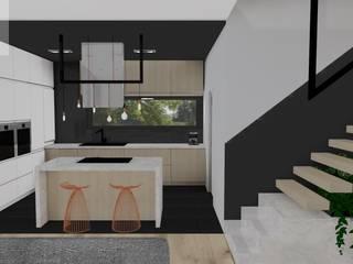 Nowoczesny dom - Klasyczna Carrara Nowoczesna kuchnia od Katarzyna Piotrowiak Pure Form Nowoczesny