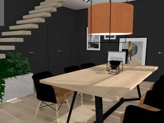 Nowoczesny dom - Klasyczna Carrara Nowoczesna jadalnia od Katarzyna Piotrowiak Pure Form Nowoczesny