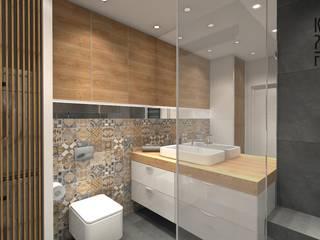 Projekt łazienki - Patchworkowe love Nowoczesna łazienka od Katarzyna Piotrowiak Pure Form Nowoczesny