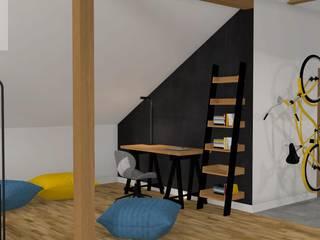 Mieszkanie na poddaszu Industrialne domowe biuro i gabinet od Katarzyna Piotrowiak Pure Form Industrialny