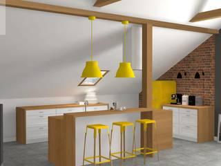 Mieszkanie na poddaszu Industrialna jadalnia od Katarzyna Piotrowiak Pure Form Industrialny