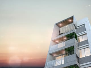 Edificio Lavalle 576 ° San Miguel de Tucumán: Condominios de estilo  por Etéreo Arquitectos