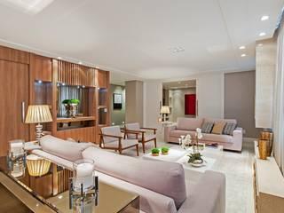 Apto AK_ 220m² Salas de estar modernas por Carolina Kist Arquitetura & Design Moderno