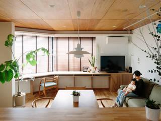 板橋小茂根の家 Itabashi Komone House モダンデザインの リビング の 荻原雅史建築設計事務所 / Masashi Ogihara Architect & Associates モダン