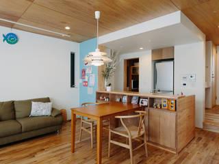 板橋小茂根の家 Itabashi Komone House モダンデザインの ダイニング の 荻原雅史建築設計事務所 / Masashi Ogihara Architect & Associates モダン