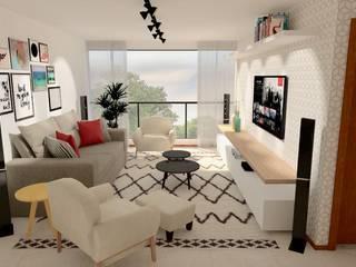 Apartamento 207 Salas de estar escandinavas por Collevatti Arquitetura Escandinavo