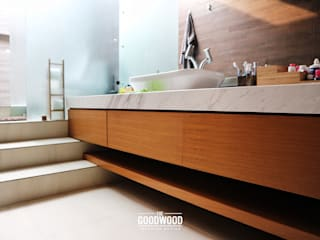 Rumah A+S The GoodWood Interior Design Kamar Mandi Modern