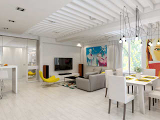 Дизайн-проект 5-и комнатной квартиры г. Геленджик 198 м2: Гостиная в . Автор – inwork