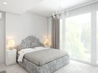 Дизайн-проект 5-и комнатной квартиры г. Геленджик 198 м2 Спальня в стиле модерн от inwork Модерн