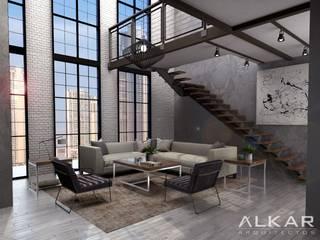 Departamento: Salas de estilo  por ALKAR arquitectos